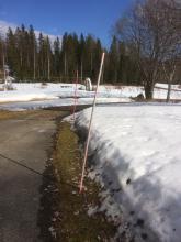 28 april 2017  Fortfarande mycket snö